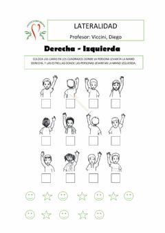 Interactive worksheet Lateralidad
