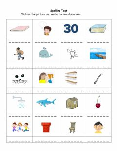 Interactive worksheet Spelling Test - May 18-29
