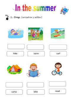 Interactive worksheet In the summer