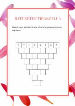 Interactive worksheet Batuketen triangelua