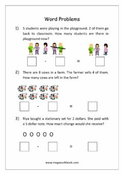 Interactive worksheet Word problems