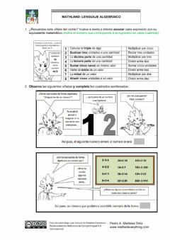 Interactive worksheet LenguajeAlgebraico-Mathland