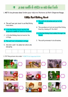 Interactive worksheet Preterit be+ing Little Red Riding Hood 5°