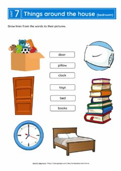 Interactive worksheet Things around the house (bedroom)