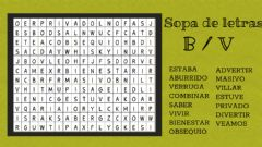 Interactive worksheet Sopa de letras B-V