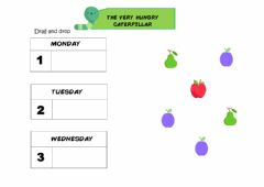 Interactive worksheet The Very Hungry Caterpillar - Drag and drop