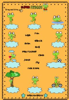Interactive worksheet Super FROGGY