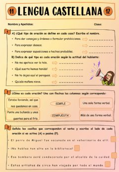 Interactive worksheet Lengua de sexto