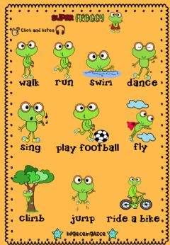 Interactive worksheet Super FROGGY (Audio Dictioanary)