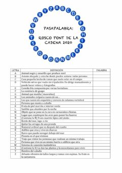 Interactive worksheet Pasapalabra