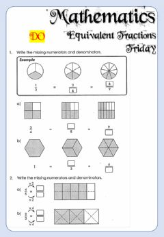Interactive worksheet Mathematics - Friday - All