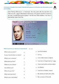Interactive worksheet Identity