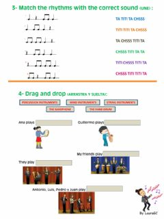 Interactive worksheet Rhythms - instruments