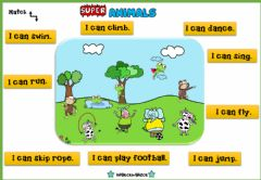 Interactive worksheet Super Animals (Join with arrows)