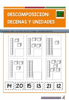 Interactive worksheet Decenas y Unidades