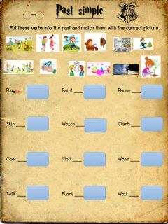 Interactive worksheet Harry Potter simple past