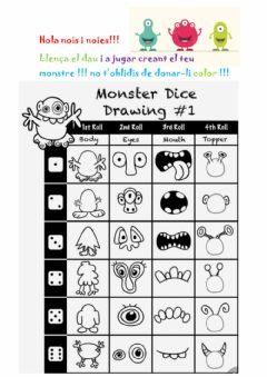 Interactive worksheet Joc Crea el teu monstre