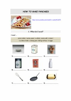 Interactive worksheet Cooking
