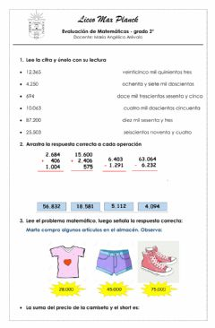 Interactive worksheet Números de 5 cifras