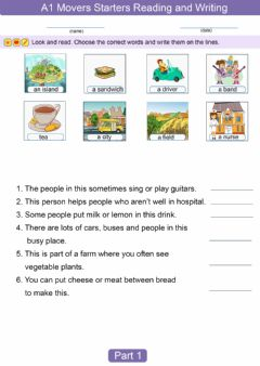 Interactive worksheet Pre A1 Movers