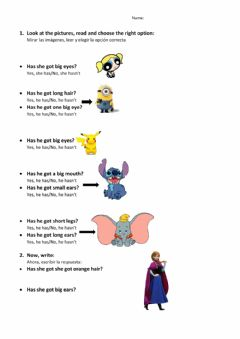 Interactive worksheet I have got...- She-He has got...