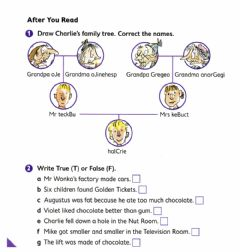 Interactive worksheet Charlie and the Chocolate Factory