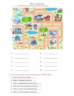 Interactive worksheet Places around town