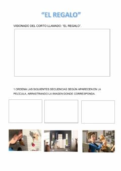 Interactive worksheet Corto el regalo