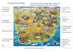Interactive worksheet Explore South Africa