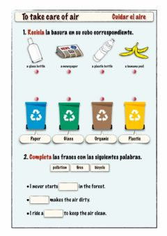 Ficha interactiva To take care of air