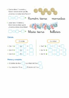 Interactive worksheet Doble y mitad