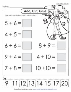 Interactive worksheet Additon