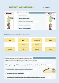 Interactive worksheet Electricity and inventions 2