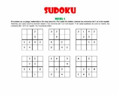 Interactive worksheet SODOKU NIVEL 1