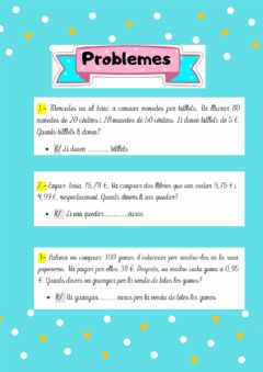 Interactive worksheet Problemes