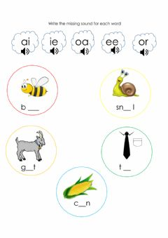 Interactive worksheet Two letters one sound blends