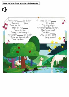 Interactive worksheet Nature Song Listen and Write