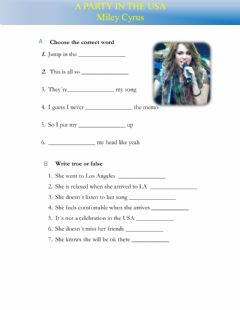 Interactive worksheet A party in the usa