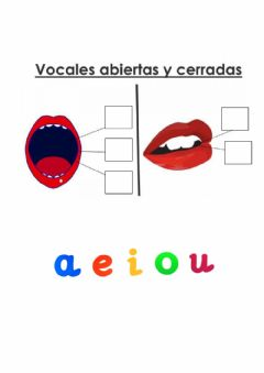 Interactive worksheet Vocales abiertas y cerradas