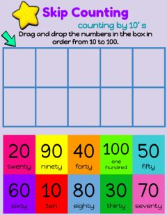 Interactive worksheet Conting by tens