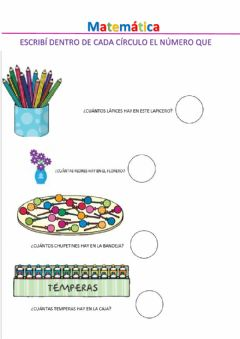 Interactive worksheet A contar