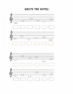 Interactive worksheet Music notes