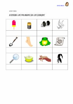 Interactive worksheet LETRA P: ficha 8