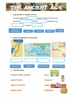 Interactive worksheet CIVILIZATIONS OF THE ANCIENT AGES