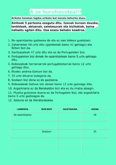 Interactive worksheet Hau nahaste!