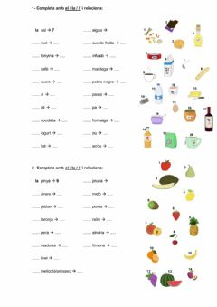 Ficha interactiva 5-7.1-articles-aliments-1