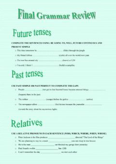 Interactive worksheet Grammar Review