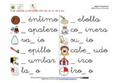 Interactive worksheet Palabras con z y c