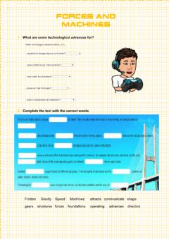 Interactive worksheet Forces and machines