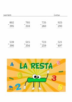 Interactive worksheet Restes